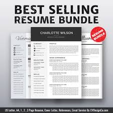 2019 Best Selling Ms Office Word Resume Cv Bundle The Charlotte Resume Templates Cv Templates Cover Letter References For Unlimited Digital