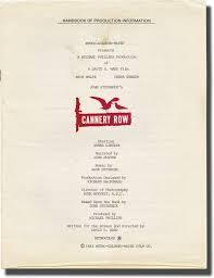 cannery row john steinbeck novels david s ward screenwriter  cannery row