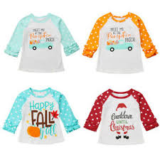 Details About Us Toddler Baby Girl Long Sleeve Tops T Shirt Ruffle Halloween Xmas Clothes 0 7t
