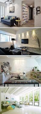 25 Living Rooms with White Brick Walls | White brick walls, Bricks ...
