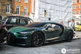 For the start of one of the world's toughest races, bugatti sent their latest achievement to pace the field. British Racing Green Chiron 9gag