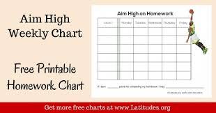 Free Homework Chart Free Printable Homework Charts For Teachers Students Acn