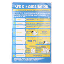 600mmx400mm Cpr Resuscitation Chart Swimming Pool Spa Safety Sign Stickers Self Adhesive For Security Wallpaper