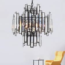 retro vintage crystal chandelier lighting crystal prism chandeliers pendant hanging light for home hotel villa restaurant decor chandeliers