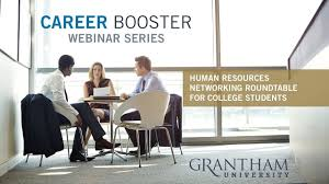 career booster webinar human resources networking roundtable for college students