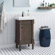 Gracie Oaks Malena 18 Single Sink Bathroom Vanity Set Reviews Wayfair