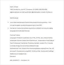 Junior Java Developer Resume Adorable Java Developer Resume Template 28 Free Samples Examples Format