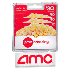amc theaters 3 pack 10 gift cards1 0 ea