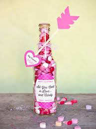 best diy valentines day gifts valentines candy bottle cute mason jar valentines day gifts