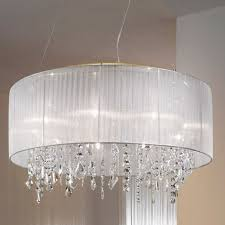 highest sheer lamp shade lighting urgent chandeliers white crystal pendant