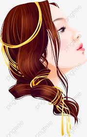 無料ダウンロードのためのイラストは女子学生髪型 線画ヘアスタイル 女史