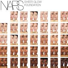 Nars Sheer Glow Color Chart Nars Sheer Glow Foundation Color Chart Www