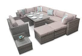surprising rattan corner sofa garden furniture 9 manchester modular set outdoor dining