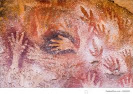 non figurative art ancient cave paintings in patagonia southern argentina