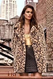 cheetah print faux fur coat black and white leopard print faux fur coat white animal print