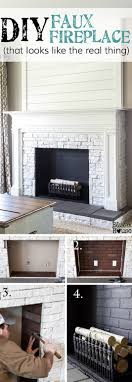 Image Room Decor Mock Fireplace Faux Real Homebnc 45 Best Diy Living Room Decorating Ideas And Designs For 2019