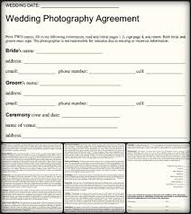 Photography Contracts 5 Sample Wedding Photography Contract Templates Word Pdf