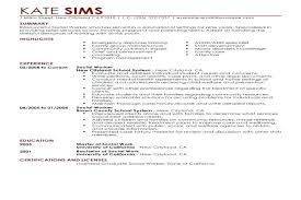 Objective For Social Work Resume Social Services Resume Objective Foodcityme 55