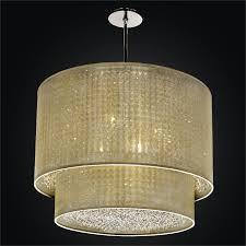 double drum shade chandelier duet 601cd27sp t 7