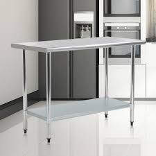 Stainless Steel Kitchen Work Table Commercial Restaurant Table 24 X