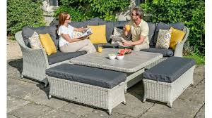 choose from large outdoor dining tables and chairs garden sofas armchairs and sun loungers in classic and contemporary designs our outdoor wicker garden