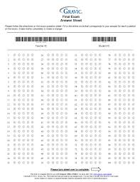 200 Question Answer Sheet With Extra Credit And Barcode Remark