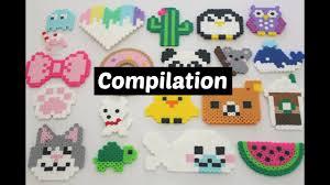Cool Designs With Perler Beads Perler Bead Diy Compilation 20 Designs