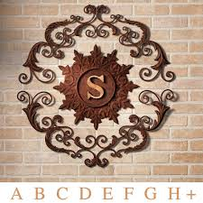 touch to zoom on large outdoor wall art metal with kingston monogram metal wall grille
