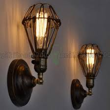cheap vintage lighting. Fixture Chandelier Vintage Light Edison Bulbs Rustic Wire Cage Hanging Wall Lamp LLWA035 Cheap Lighting