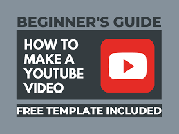 How to Make a YouTube Video (Free Template)