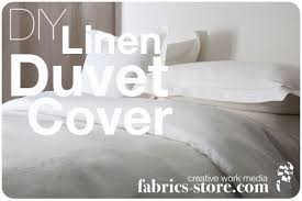 diy linen duvet cover the thread blog
