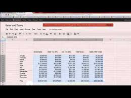 Using Google Docs Spreadsheet Sales And Taxes