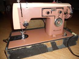 kenmore sewing machine. vintage retro sears kenmore heavy duty sewing machine portable 1960\u0027s pink rose kenmore sewing machine 3