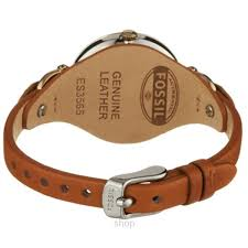 fossil es3565 women s georgia tan leather watch
