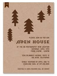 Invitation To Open House Business Event Invitations Woodsy Open House By Green Business Print