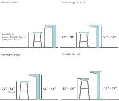 Bar Stool Size Chart How To Measure For Bar Stools Dwellco Me