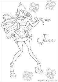 Winx Disegni Da Colorare Flora Blogmammait
