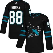 Preta Sharks Hockey Esportiva Verde Jose 88 Numero Black Burns Nhl E San Camisa