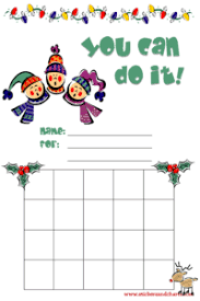 Winter Incentive Charts Christmas Charts For Kids Reward Stamp And Sticker Charts