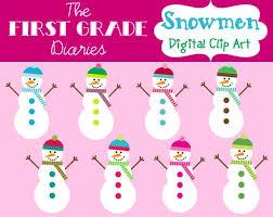 Colorful Snowmen Winter Digital Clip Art Buy 2 Get 1 Free