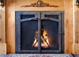 home decor creative wrought iron fireplace doors decorate ideas modern with interior design ideas wrought