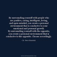 "Quotes About Who You Surround Yourself With Best Of Quote By Steve Maraboli ""By Surrounding Yourself With People Who"