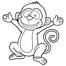 Images Monkey Coloring Book 52 For Gallery Coloring Ideas With