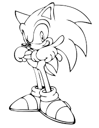 Small Picture On The Go Sonic Color Page Amazing Sonic Coloring Pages For Sonic