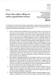 How To Write A Good Book Review International Sociology Review Of Books