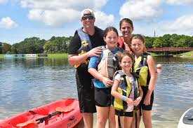 COVID blues? Try Nathan Benderson Park in Sarasota. - (Back, from left)Wes  Jensen and Kim Jensen of Greenbrook pose with daughters (front, from  left)Isabella Jensen, Sophia Jensen and Julianna Jensen after a