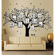 >amazon anber family tree wall decal butterflies and birds wall  anber family tree wall decal butterflies and birds wall decal vinyl wall art photo frame tree