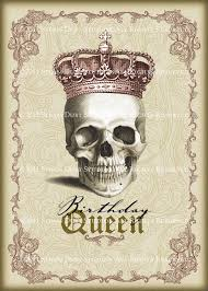 Victorian Printables Happy Goth Birthday Victorian Greetings Card Cards goth