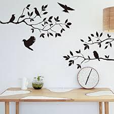 amazon uk kitchen wall art. black flowers tree birds wall art stickers decal for home room decor decoration by rondaful: amazon.co.uk: kitchen \u0026 amazon uk 7