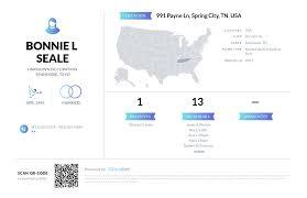 Bonnie L Seale, (423) 365-5279, 991 Payne Ln, Spring City, TN | Nuwber